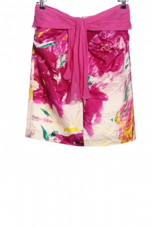 Renato Nucci Flared Skirt pink-natural white abstract pattern casual look