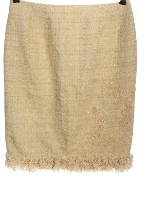 Renato Nucci Midi Skirt natural white weave pattern casual look