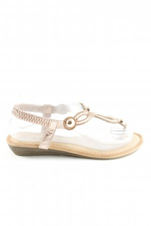 Sandalias con talón descubierto crema look casual