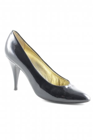 René Caovilla High Heels schwarz-goldfarben Elegant