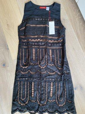 René Derhy Kleid schwarz braun gr. 36
