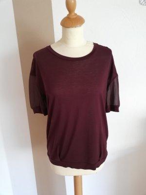 René Lazard Designer Shirt Bluse 36 neu Seide weinrot Bordeaux runkelrot