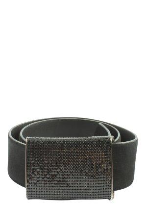 René Lazard Cinturón de cuero de imitación negro look casual