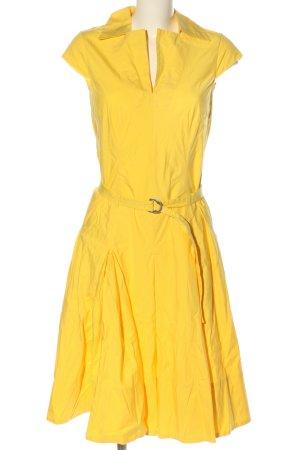 René Lezard A-Linien Kleid blassgelb Casual-Look