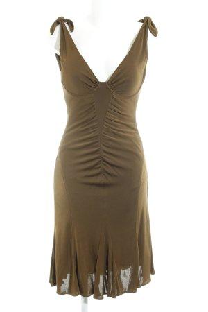 René Lezard Abendkleid bronzefarben Elegant