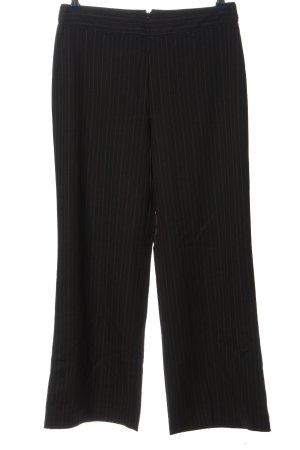 René Lezard Pantalone da abito nero-marrone motivo a righe stile professionale