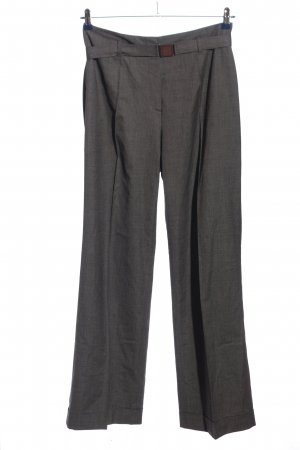 René Lezard Baggy Pants light grey weave pattern business style