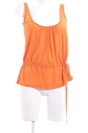 René Lezard Basic Top hellorange Casual-Look