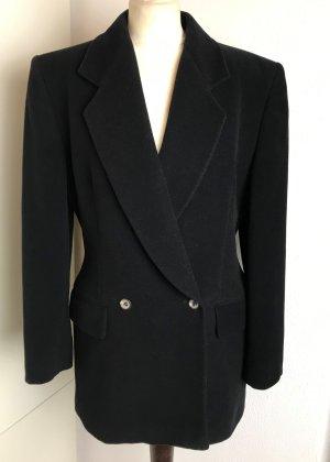 René Lezard Boyfriend Blazer black angora wool