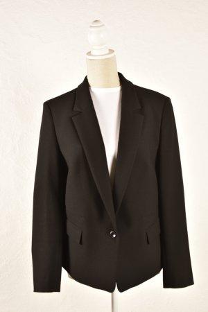 René Lezard Wool Blazer black mixture fibre