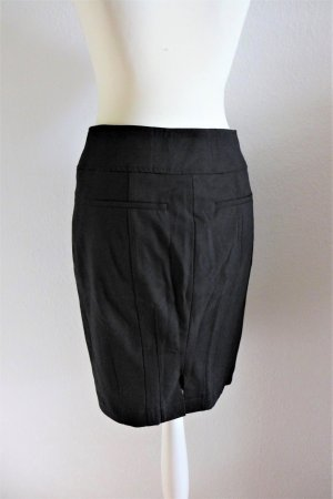 René Lezard Bleistift Pencil Skirt Rock Stretch schwarz Gr. 34 XS