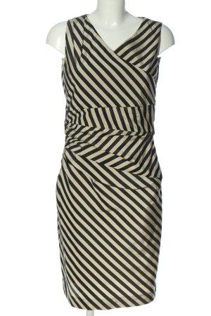 René Lezard Pencil Dress black-cream striped pattern casual look