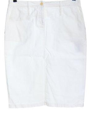 René Lezard Falda de tubo blanco look casual