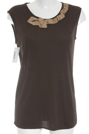 René Lezard Camisa de mujer color bronce-marrón arena