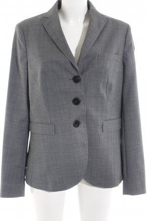 René Lezard Boyfriend-Blazer grau Allover-Druck Business-Look