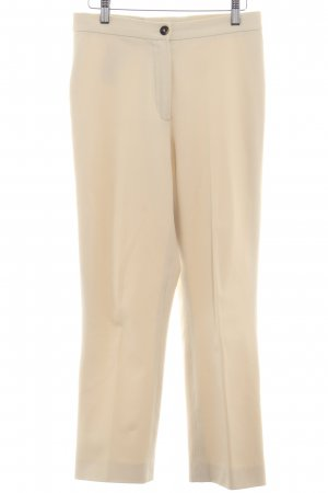 René Lezard Bundfaltenhose creme Business-Look