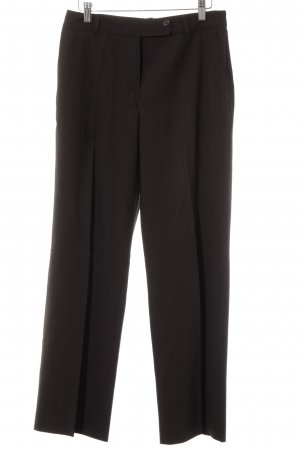 René Lezard Bundfaltenhose dunkelbraun Business-Look