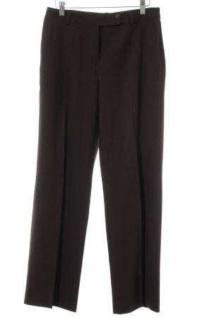 René Lezard Pleated Trousers dark brown business style