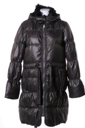 René Lezard Down Coat black quilting pattern casual look