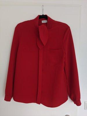 René Lezard Designer Schluppen Bluse Gr. 38 rot