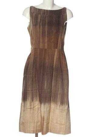 René Lezard Robe fourreau brun-crème gradient de couleur style décontracté