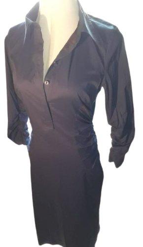 Rene Lezard Gerafftes Langarm Kleid Lila Gr. 34