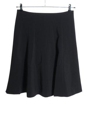 René Lezard Rozkloszowana spódnica czarny W stylu casual