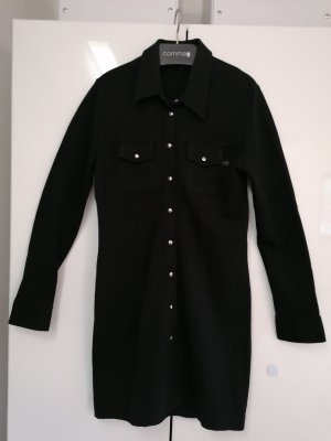 René Lazard Coat Dress black brown wool