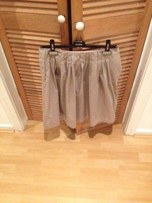 René Lezard Pleated Skirt grey-silver-colored
