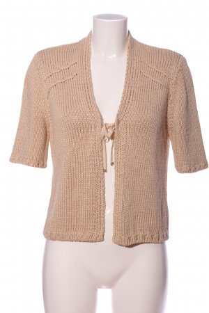 René Lezard Coarse Knitted Sweater cream casual look