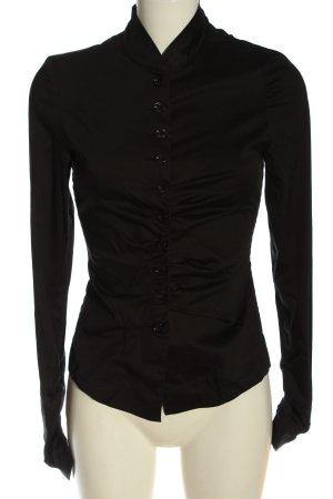 René Lezard Camicia blusa nero stile professionale
