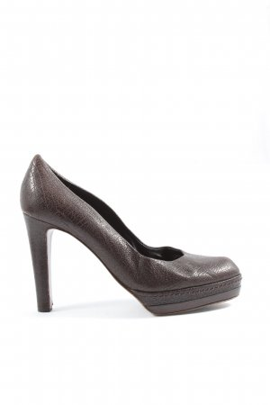 René Lezard High Heels braun Business-Look
