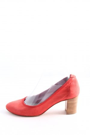 René Lezard Hochfront-Pumps rot Casual-Look
