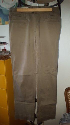 René Lezard Pantalon cargo marron clair coton