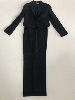René Lezard Pantalone di lana blu scuro