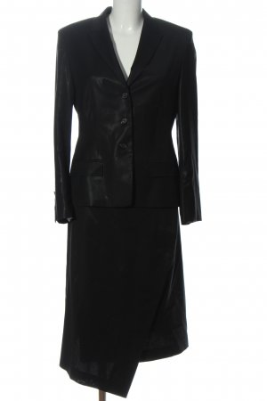 René Lezard Kostium czarny W stylu biznesowym