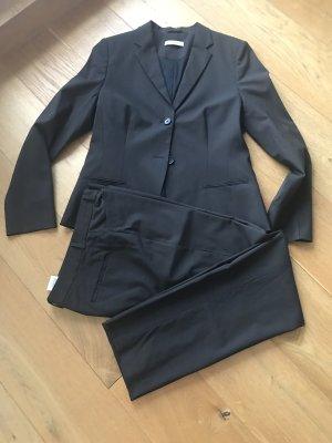 René Lezard Traje de pantalón marrón oscuro-marrón-negro