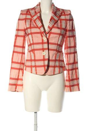 René Lezard Jerseyblazer pink-rot Allover-Druck Business-Look