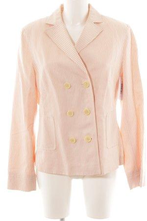 René Lezard Jerseyblazer creme-rosa Streifenmuster Casual-Look