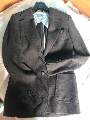 René Lezard Blazer de lana gris verdoso-verde oscuro