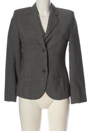 René Lezard Klassischer Blazer grigio chiaro puntinato stile professionale