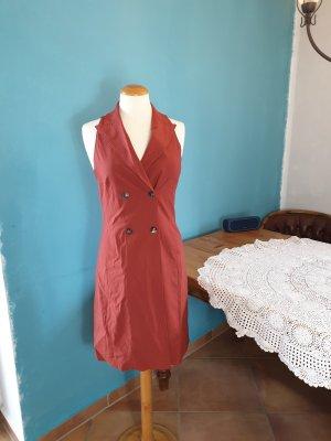 René Lezard Kleid rostfarben mit Taschen Gr. 36