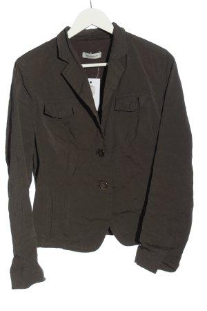 René Lezard Korte blazer bruin casual uitstraling