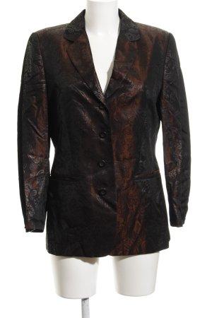 René Lezard Kurz-Blazer bronzefarben-schwarz abstraktes Muster