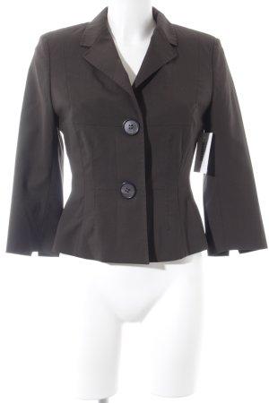 René Lezard Short Blazer dark brown business style