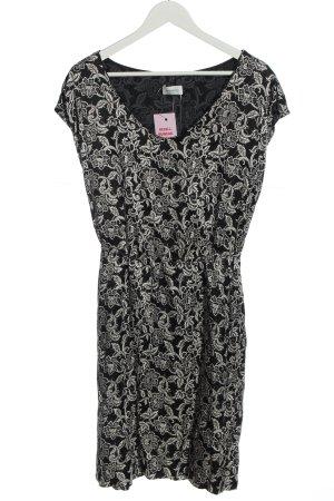 René Lezard Shortsleeve Dress black-white flower pattern casual look