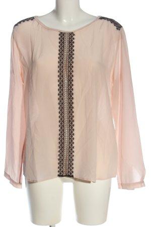 René Lezard Langarm-Bluse pink Business-Look