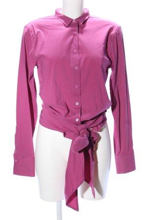 René Lezard Langarm-Bluse pink Elegant