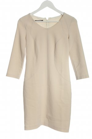 René Lezard Longsleeve Dress cream casual look
