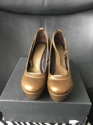 René Lezard  Leder Wedges